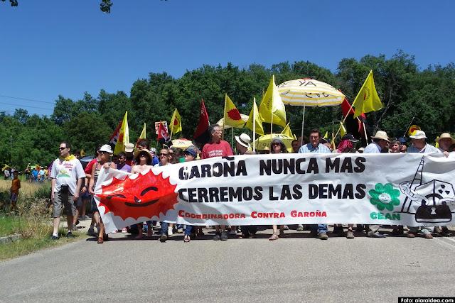 Manifestación contra Garoña