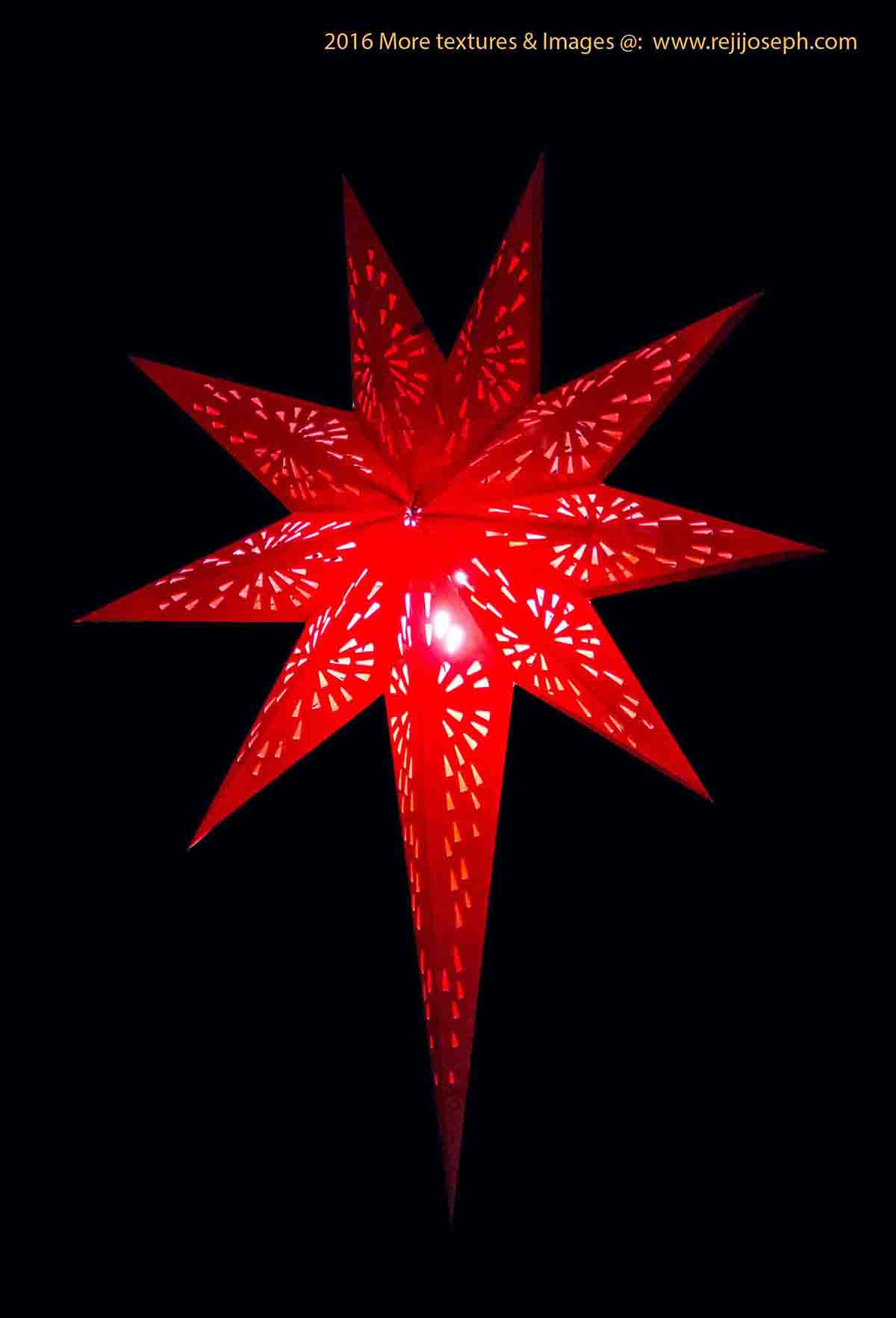 Christmas star Illumination light decoration 00006