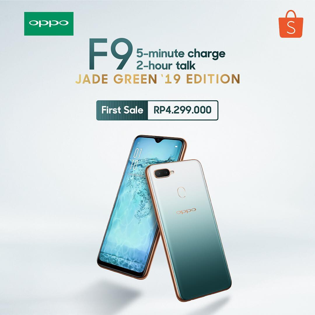 #Shopee - Promo Oppo F9 JADE GREEN '19 EDITION (FIRST SALE: 4299K)