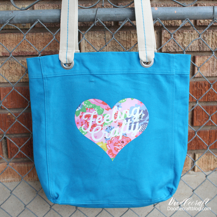 Feeling Crafty Iron-on Designs Tote Bag with Cricut EasyPress 2