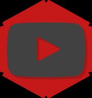 youtube hexagon icon