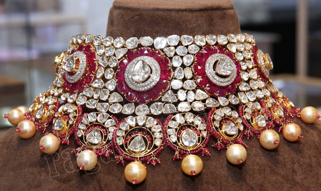 Ruby Polki Diamond Grand Necklaces