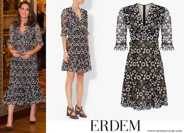 Kate Middleton wore ERDEM Suzi Lace Dress