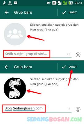 Ketik Nama Grup Dan Pilih Ikon Grup Whatsapp