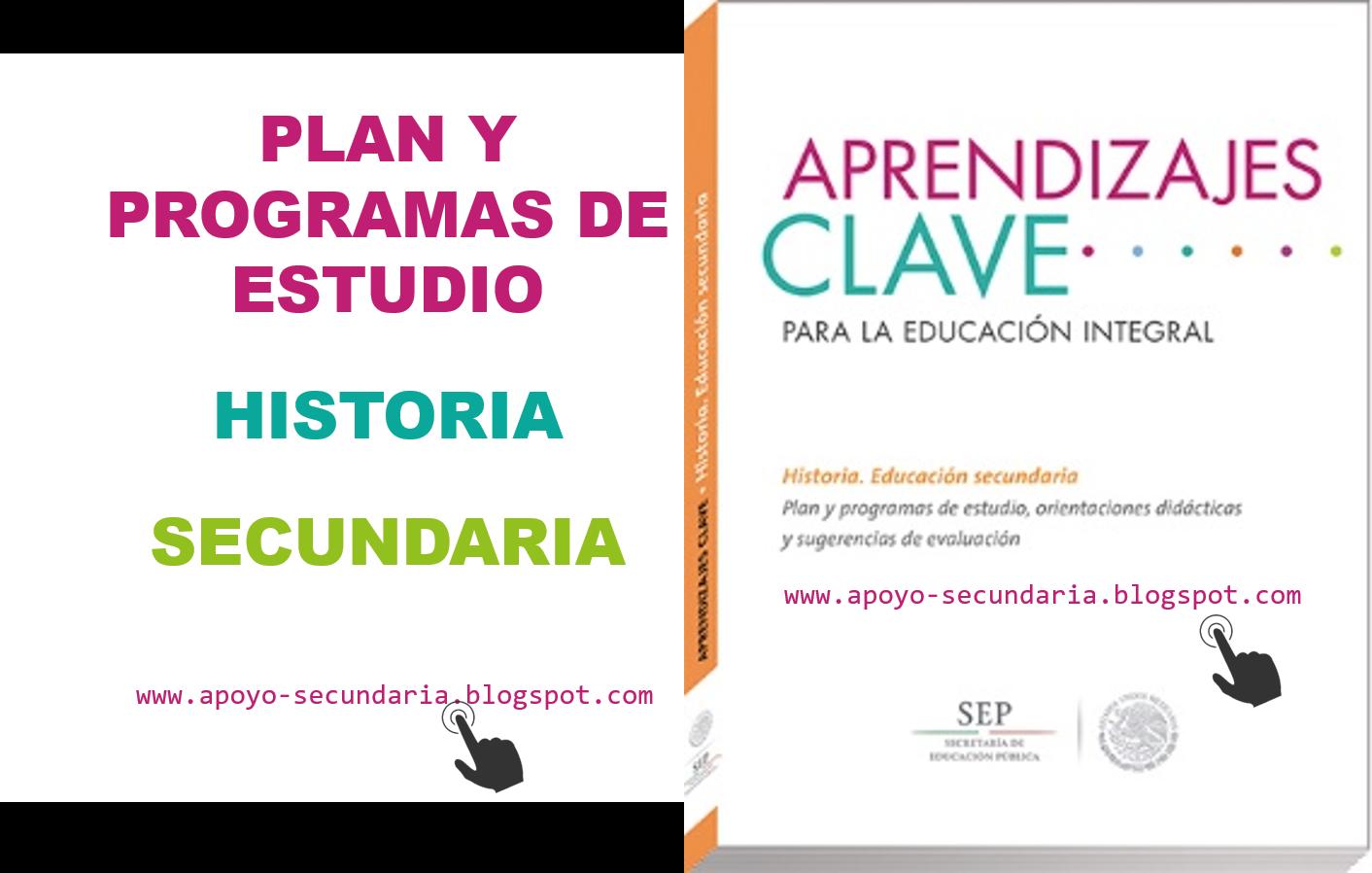 Plan y Programa de Estudio de Historia