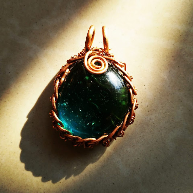 Copper Pendants, Wire Wrapped Jewellery, Copper Jewelry