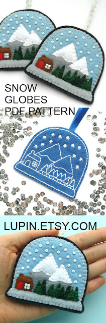 Snow Globe PDF Sewing Tutorial & Embroidery Pattern by Laura Lupin Howard