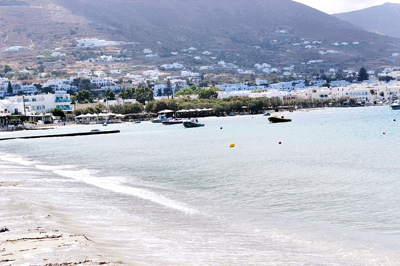 Livadia beach in Paros island next to Parikia
