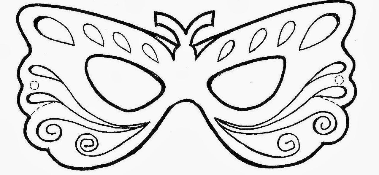 Desenho Para Colorir Mascara De Carnaval