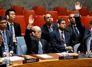 Russia, China and Bolivia abstaining.