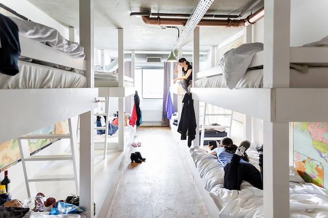 Hostel Ecomama em Amsterdã - quarto