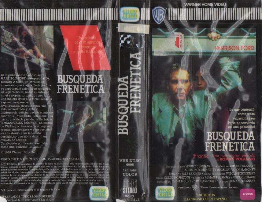 Pelicula Busqueda Frenetica 1988 Archivos En Vhs