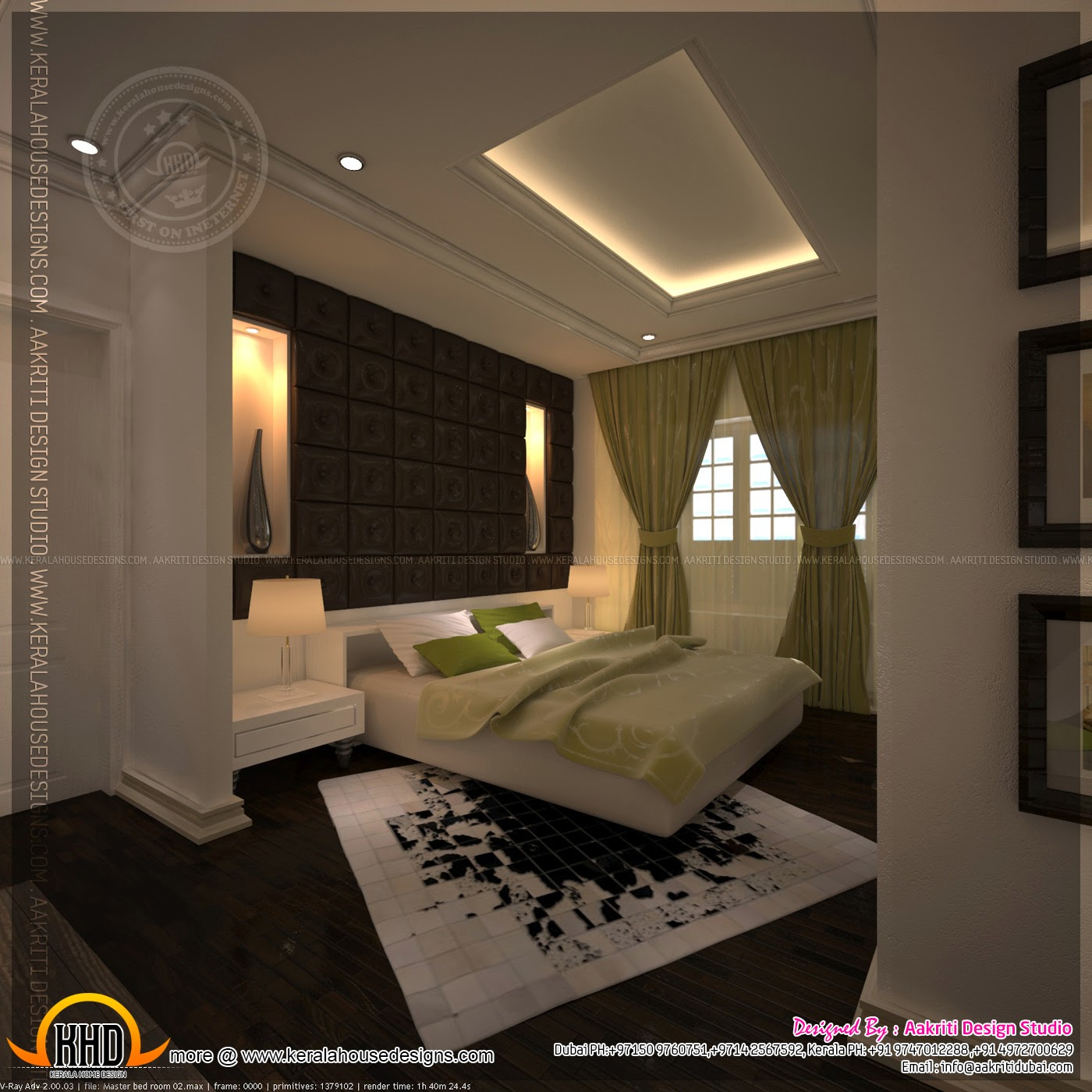 Master bedroom and bathroom interior design kerala home for Room design photos