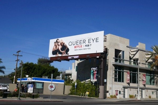 Queer Eye series launch billboard