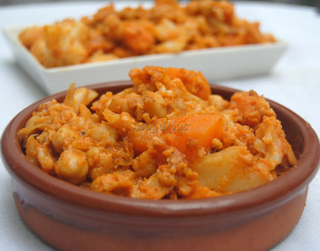 Curry con Verduras y Garbanzos