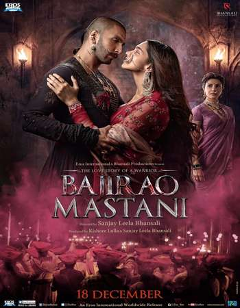 Poster Of Bajirao Mastani 2015 Hindi 700MB DVDRip ESubs Free Download Watch Online