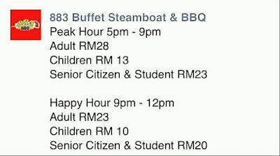 Tempat Makan Best di Miri Sarawak Restoran 883 BBQ Steamboat  Harga