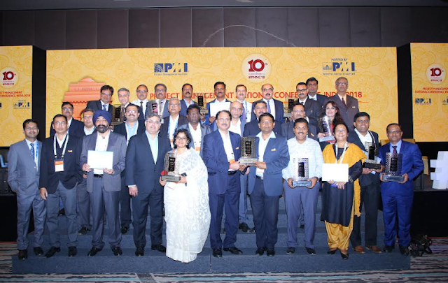 Larsen and Toubro Hydrocarbon Engineering Limited bags Project of the Year award at the 10th PMI India Project Management Awards held during Project Management National Conference 2018