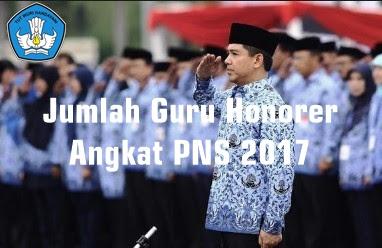 Jumlah Guru Honorer K2 PTT Yang Diangkat PNS 2016/2017