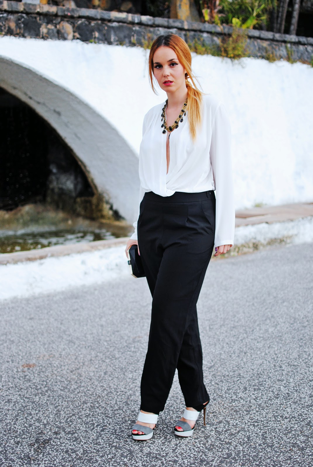 nery hdez, q2, jumpsuit, mono largo, black and white, zara shoes,