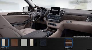 Nội thất Mercedes GLS 500 4MATIC 2019 màu Vàng Ginger/Nâu Espresso 215