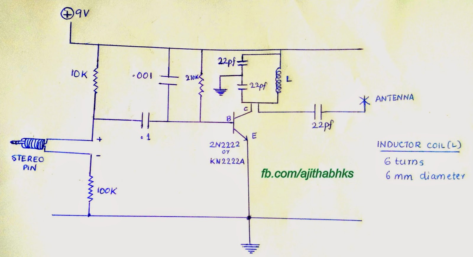 How To Make Fm Radio Transmitter Easily 100 Working Aju Talks Circuit Diagram