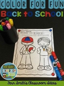 Your students will LOVE the 220+ pages that comes in this bundle,Fall Coloring Pages! Terrific for a First Day Activity on The Students' Desk When They Arrive In Your Classroom! You can just print and pass them out OR have a parent volunteer bind them into a FALL COLORING BOOK for you. Pin now for the the busy back to school season! Students can draw in an Autumn background, or write about what they did this summer on the back. Use it for all sorts of jumping off points for older students for creative writing lessons! Coloring Pages for Fall - Color For Fun Fall Four Pack of Printable Coloring Pages Bundle. #FernSmithsClassroomIdeas