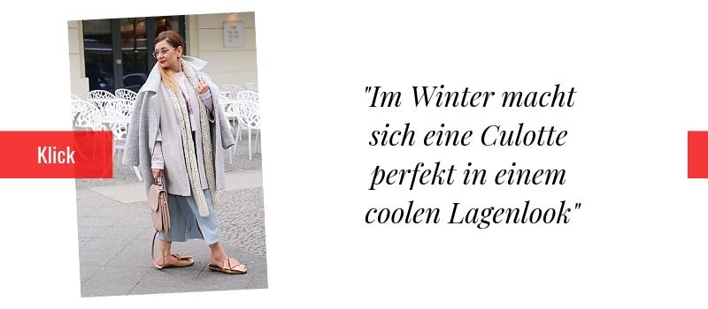 Culotte mit Lagenlook. Culotte im Winter kombinieren.
