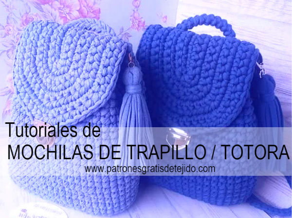 Mochilas de trapillo tutoriales crochet y dos agujas for Tutoriales de trapillo