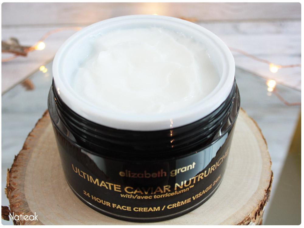 aspect crème visage Ultimate caviar nutruriche de Elizabeth Grant