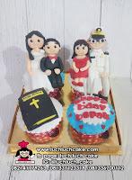 Cupcake Ulang Tahun Tema Angkatan Laut dan Angkatan Darat