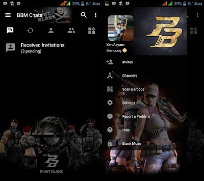 Download BBM MOD Point Blank v3.2.5.12 APK Transparan Terbaru