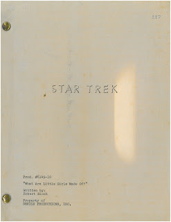 Star Trek - What Are Little Girls Made Of? - Script Title Page