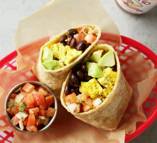 PROTEIN PACKED VEGAN BREAKFAST BURRITO #vegan #burrito