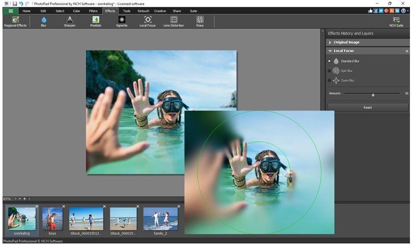 برنامج, مميز, لتحسين, وتعديل, جودة, الصور, وتخصيصها, PhotoPad