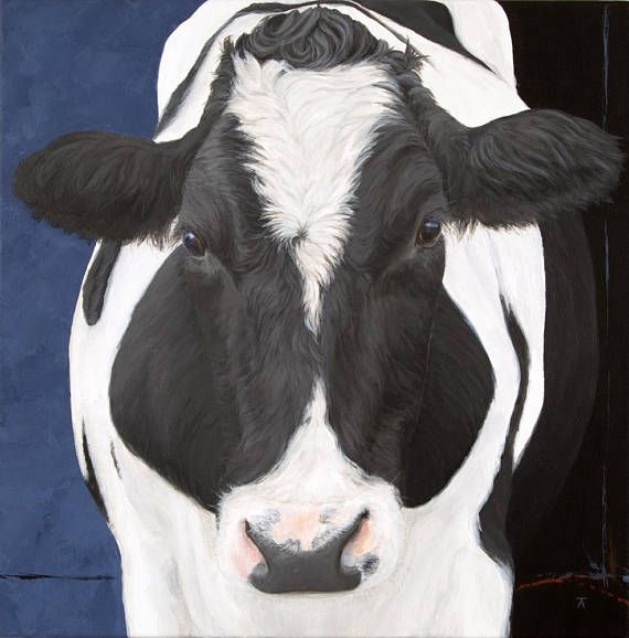 Black And White Cow Paintings