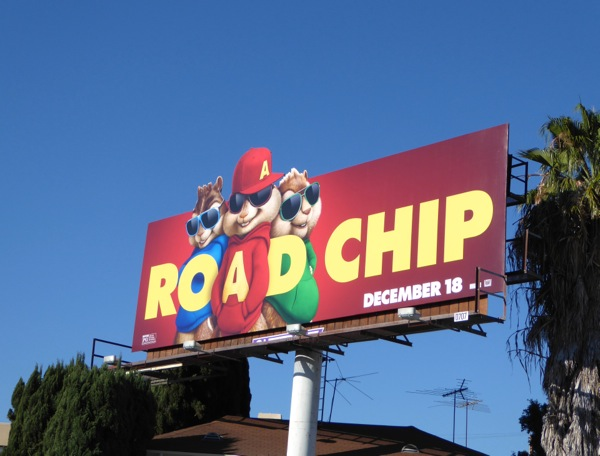 Alvin Chipmunks Road Chip billboard