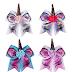 $5.84 (Reg. $12.99) + Free Ship Jumbo Unicorn Hair Bow Ponytail, 4-Count!