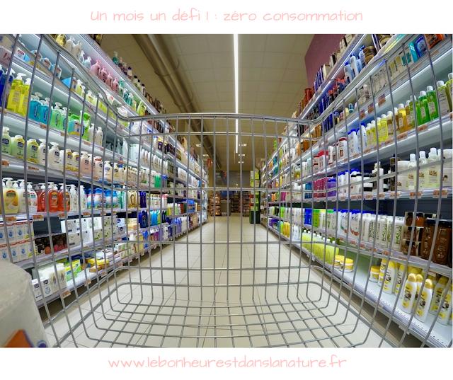 un mois un défi 1 zéro consommation décroissance supermarché minimalisme