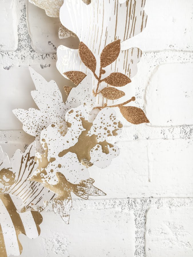 Minc It Monday ~ Foiled Fall Wreath by Jamie Pate for Heidi Swapp | @jamiepate for @heidiswapp