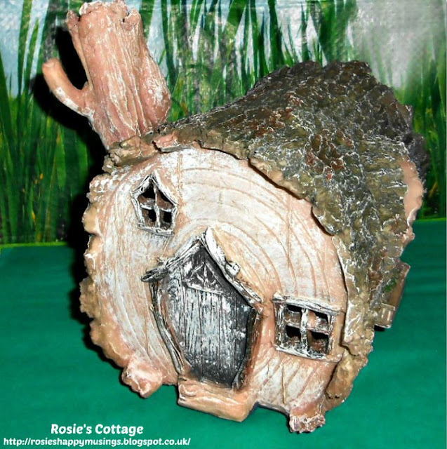 Solar Powered Fairy Home - Front Door & Chimney :)