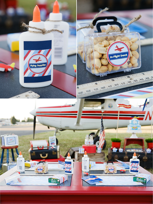 Little Aviator Airplane Inspired Birthday Party Ideas and Party Styling