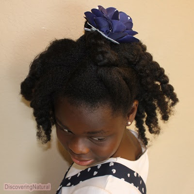 Twist and Twistout Natural Hair Hairstyle for Tweens and Teens