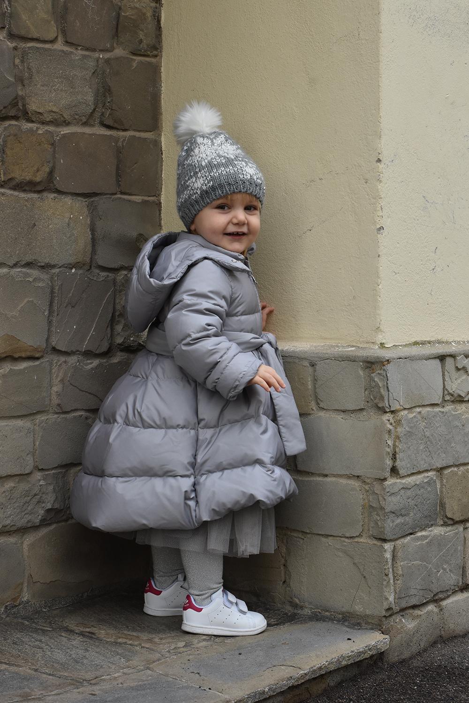 piumino bambina grigio