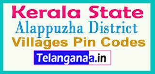 Alappuzha District Pin Codes in Kerala State