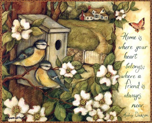 kuş temalı dekupaj resimleri