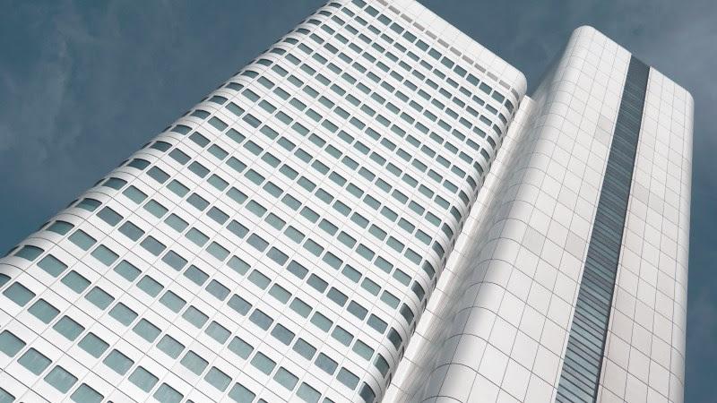 2 Silberturm Building in Frankfurt, Germany