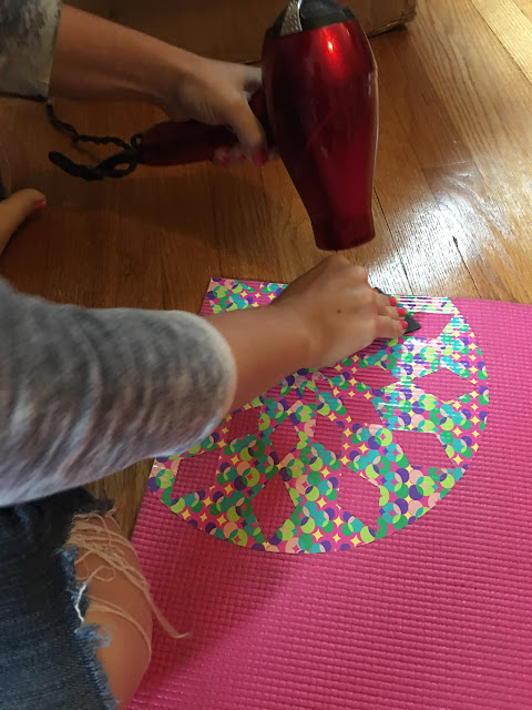 Hair dryer yoga mats vinyl silhouette cameo helps craft hacks