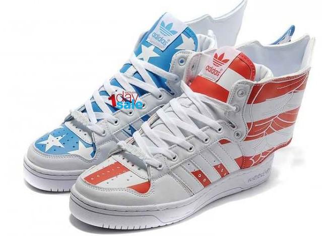 ... X Jeremy Scott Wings 2.0 America Flag Red Blue Shoes Jeremy Scott  Stores New Adidas X Jeremy Scott Wings 2.0 America Flag Red Blue Shoes  Online Shop ... d45334504