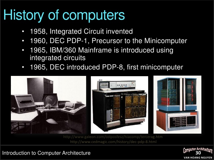 the history of the advancements of computers Internet at 40 in 1969 a student typed 'lo' on a computer - and the internet was born  forty years of the internet: how the world changed for ever  a definitive internet history.